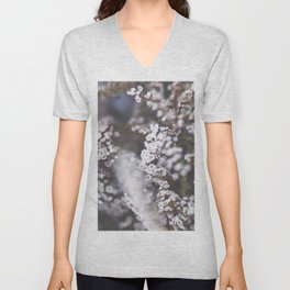 The Smallest White Flowers 01 Unisex V-Neck