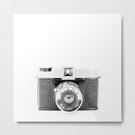 Vintage Camera: Diana 151 Square Metal Print