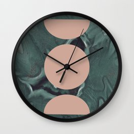 Moon Cycles on Agate Wall Clock