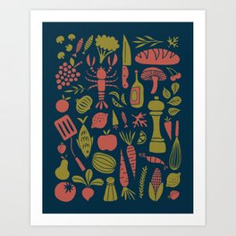 Fresh Produce Art Print