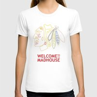 blackhawks T-shirts featuring Madhouse Chicago Blackhawks by beejammerican