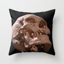 Real Human Skull Throw Pillow