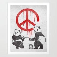Pandalism V2 Art Print