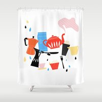 calendar Shower Curtains featuring Calendar 2014 by Anne