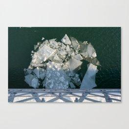 Ice Off the Bridge Canvas Print
