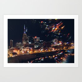 Music City Lights - Nashville Art Print