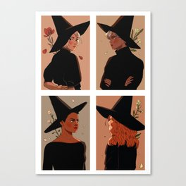 autumn witches Canvas Print
