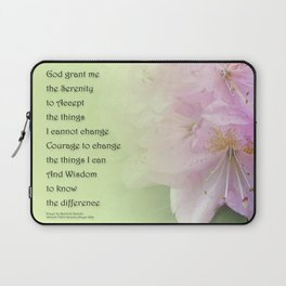 Serenity Prayer Pink Rhododendrons Laptop Sleeve