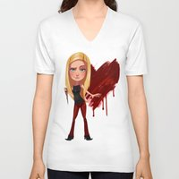 buffy the vampire slayer V-neck T-shirts featuring Buffy the Heart Slayer by Isaiah K. Stephens