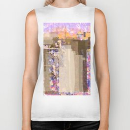 Floral Abstract City Biker Tank
