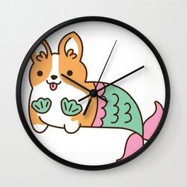 Mermaid Corgi Wall Clock