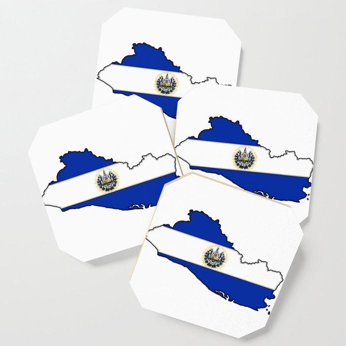 El Salvador Map with Salvadoran Flag Coaster by havocgirl ...