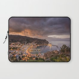 Harbor at Avalon on Catalina Island at Sunset Laptop Sleeve