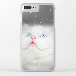 Kitten's First Snow Clear iPhone Case