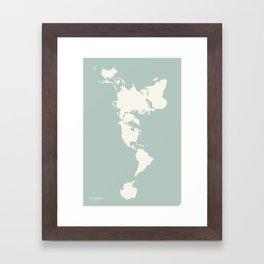 Dymaxion Map of the World Framed Art Print
