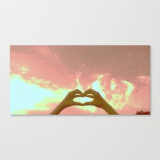 hearts to the skies Canvas Print