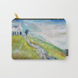 Little white church on a hill Carry-All Pouch