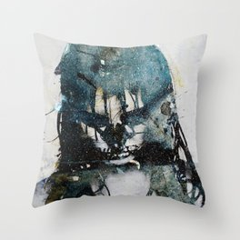 Tousled bird mad girl 2 Throw Pillow