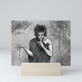 Sandman Morpheus ink painting Mini Art Print