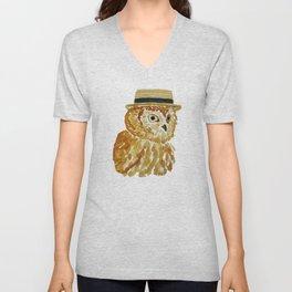 Dapper Owl or Owl Capone? Unisex V-Neck