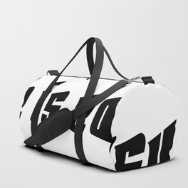 Life is easy black on white background Duffle Bag