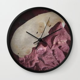 Retro Rodent Skull and Rose Wall Clock