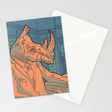 Being a rhino like a sir Stationery Cards
