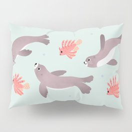 Sea lion & Lionfish Pillow Sham