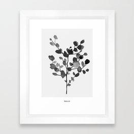 Watercolor Leaves II Framed Art Print