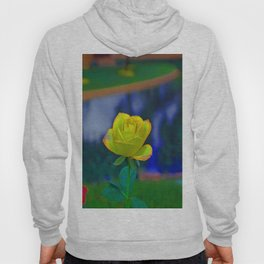 Yellow Colorful Rose Hoody