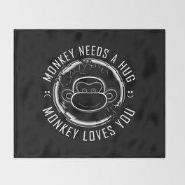 Black Mirror Monkey Throw Blanket