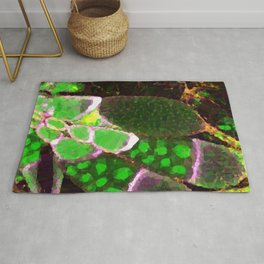 Fruit Fly Eggs Low Poly Nature Art Rug