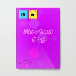 Martini Dry Metal Print
