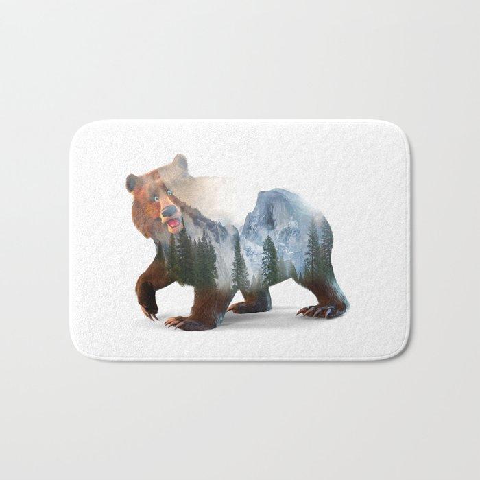 Happy Bear Bath Mat
