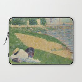 Georges Pierre Seurat  The Seine with Clothing on the Bank Laptop Sleeve