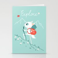 backpack Stationery Cards featuring Explore by Freeminds