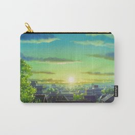 Magnificent View Of Fantastic Sundown Over Gorgeous Cityscape Cartoon Scenery Ultra High Resolution Carry-All Pouch
