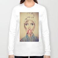 bubblegum Long Sleeve T-shirts featuring Bubblegum by Charlotte Chisnall