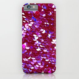 Heirloom Red Tomato Sequins With Blue Accents iPhone Case