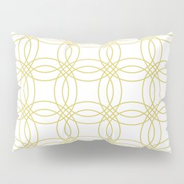 Simply Vintage Link Mod Yellow on White Pillow Sham