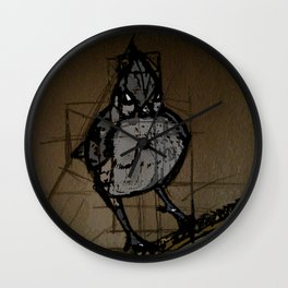 tufted titmouse Wall Clock