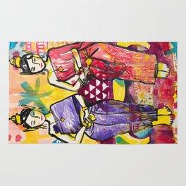 Ladies portrait in Thai dress Rug