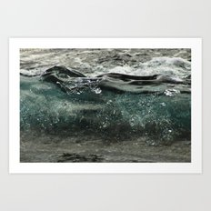 wave forming Art Print