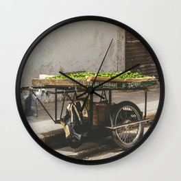 Limes on the Street, Cartagena, Colombia Wall Clock