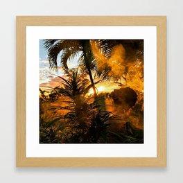 Smokinn Sunset With @laniijane Framed Art Print