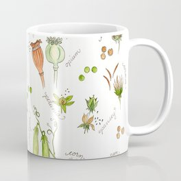 flower's seeds and seedpods Coffee Mug