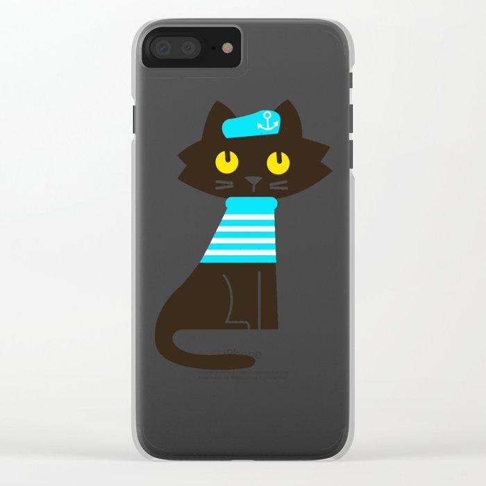 Fitz - Sailor cat Clear iPhone Case