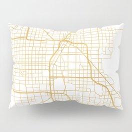 LAS VEGAS NEVADA CITY STREET MAP ART Pillow Sham