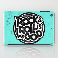 rock and roll iPad Cases featuring Rock & Roll God by Josh LaFayette