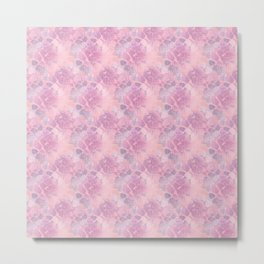 Pink abstract flowers Metal Print